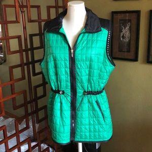 Beautiful Chico's Zenergy vest green &black Sz 3/l
